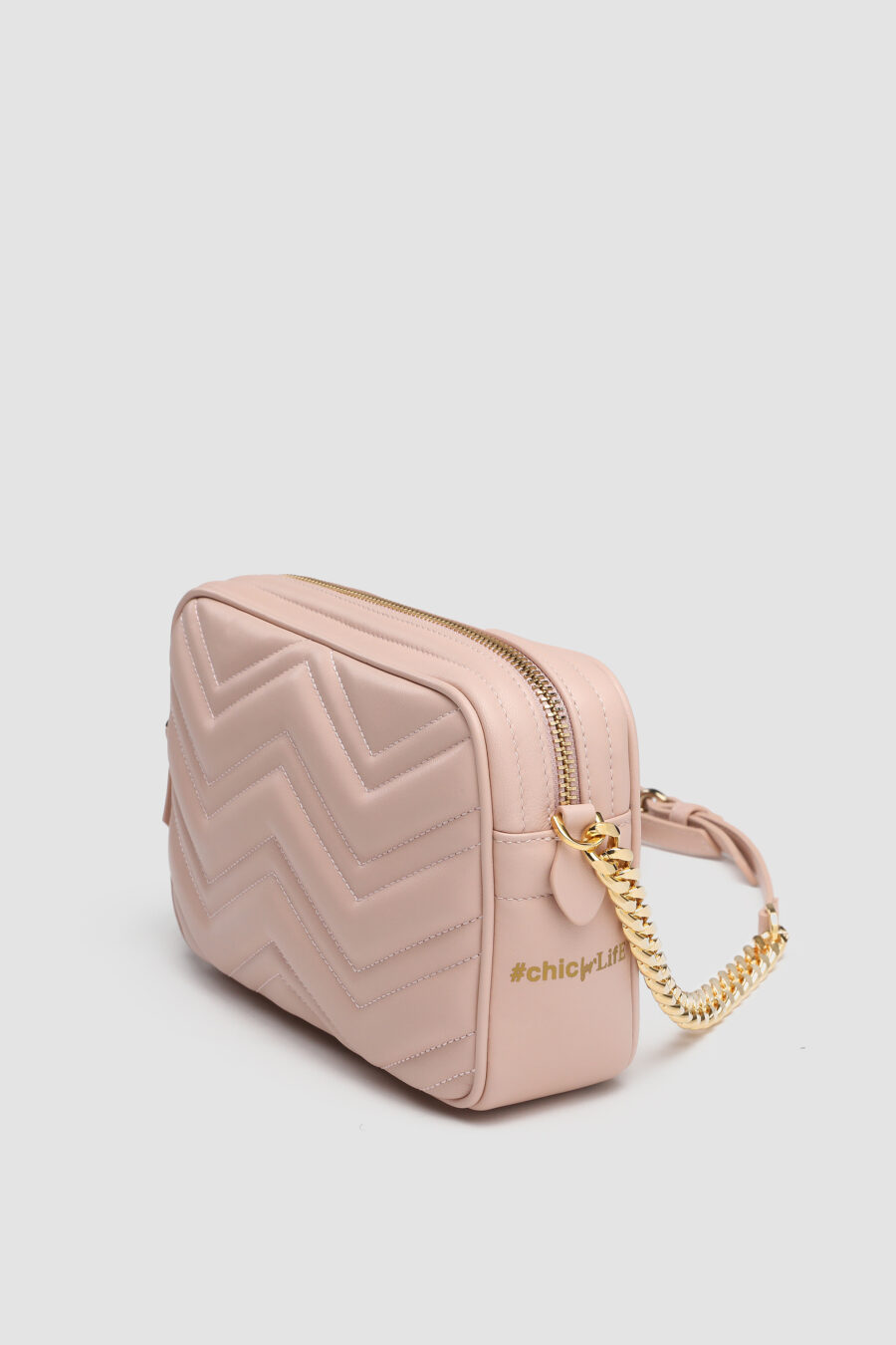 Chic bag in pelle rosa 7