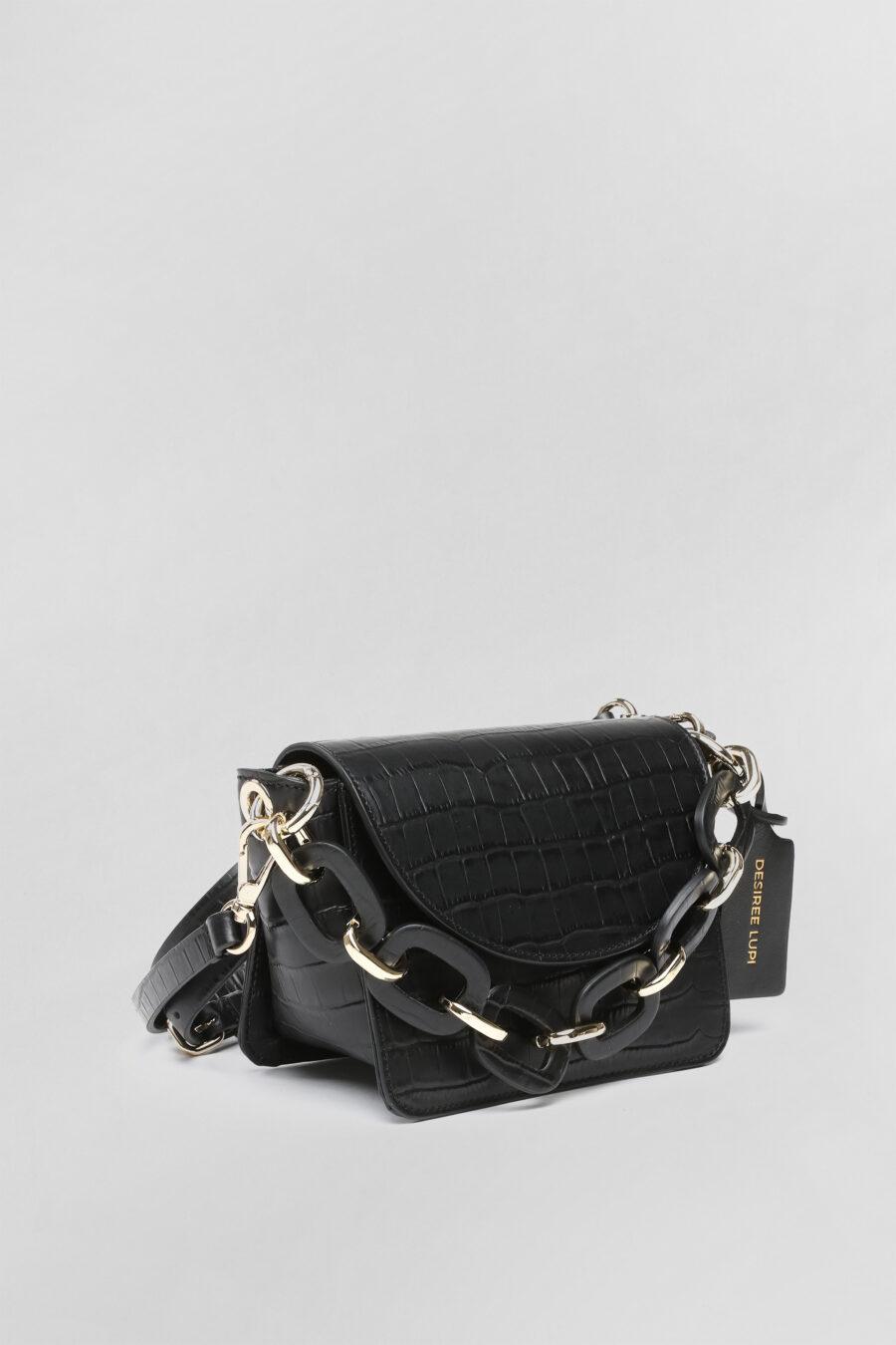 Mini bag Lisa in pelle nera 3